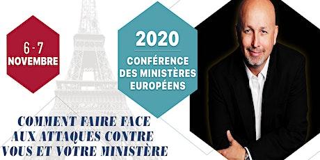 Conférence Manne des Ministres Européens novembre 2020 billets