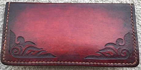 Hand Carved Leather Clutch Purse  Workshop, Leffler Leather by Les Williams tickets