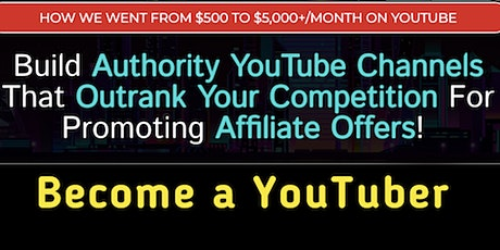 How we went from $500 to $5,000+ month by simply building YouTube Channels! tickets