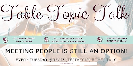 Expats Table Topic Talk (TESTACCIO) tickets