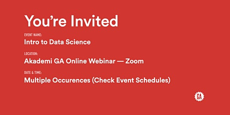 Intro to Data Science | Akademi GA tickets