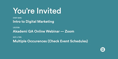 Intro to Digital Marketing | Akademi GA tickets