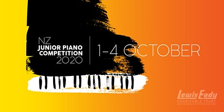 NZ JUNIOR PIANO COMPETITION 2020 - Final Round tickets