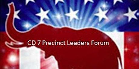 CD 7 Precinct Leaders Forum 07/25/20 tickets