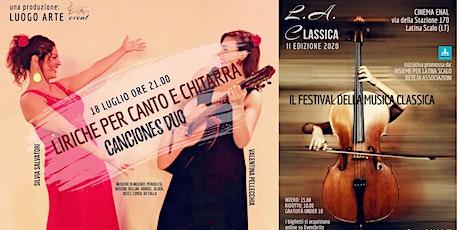 LIRICHE PER CANTO E CHITARRA biglietti