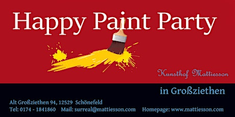 Happy PaintParty mit Mattiesson Wie male ich Glas? Tickets