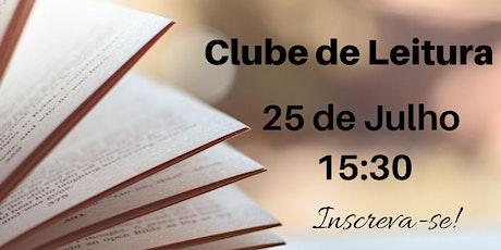 Clube de Leitura - 25 Julho bilhetes