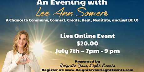 An Evening with Lee Ann Somers - July 7th - Live on Zoom tickets