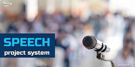 Speech Project System: progettare discorsi in pubblico biglietti