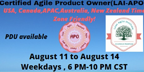 Virtual  Live ! Certified Agile Product Owner (LAI-APO) tickets