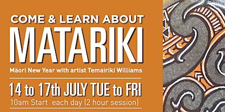 Matariki - Maori New Year with artists Temairiki Williams at The Hub tickets