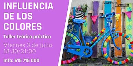 """Taller """"Influencia de los colores"""" tickets"""