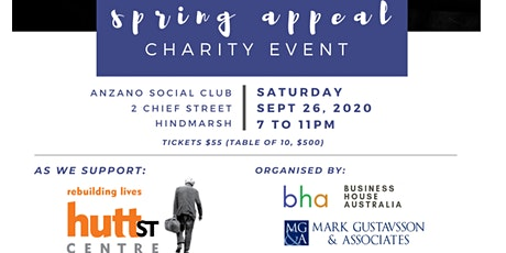 BHA Hutt St Charity Dinner tickets