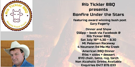 Bonfire, Bush Poet and BBQ under the Stars tickets