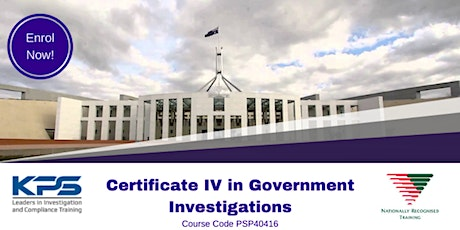 PSP40416 Certificate IV in Government Investigations tickets