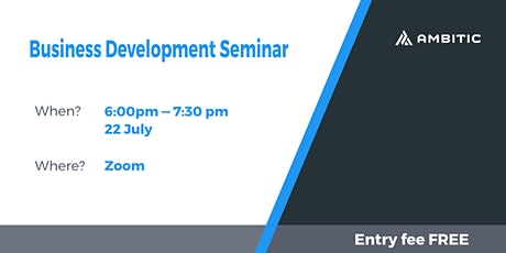 Ambitic Business Development Seminar tickets