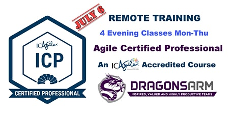 DragonsArm ICAgile Certified Professional Remote Training 4 nights tickets