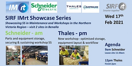 VICTAS IMRt SIRF Showcase Series - 5S in Maintenance and Workshops - Schneider Electric Benalla & Thales Benalla tickets
