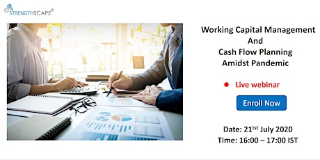 [Webinar] Working Capital Management and Cash Flow Planning Amidst Pandemic tickets