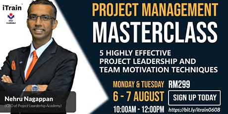 5 Highly Effective Project Leadership and Team Motivation Techniques tickets