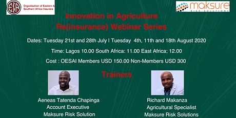 Innovation in Agriculture Re (insurance) Webinar Series tickets