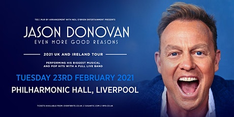 Jason Donovan 'Even More Good Reasons' Tour (Philharmonic Hall, Liverpool) tickets