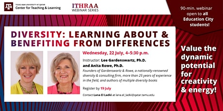 Diversity: Learning About & Benefiting from Differences tickets