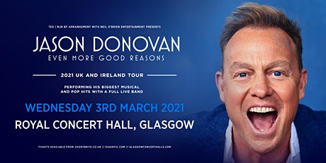 Jason Donovan 'Even More good Reasons' Tour (Royal Concert Hall, Glasgow) tickets
