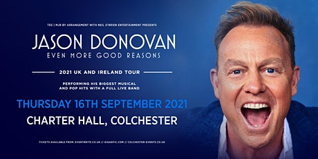 Jason Donovan 'Even More Good Reasons' Tour (Charter Hall, Colchester) tickets