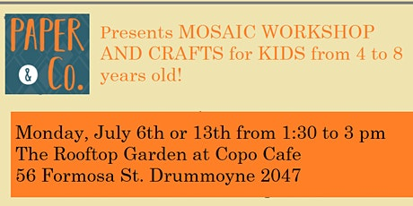 Rubber Mosaic Workshop for Kids (4-8years) tickets