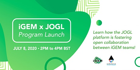 iGEM X JOGL Program Launch tickets