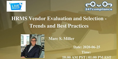 HRMS Vendor Evaluation and Selection - Trends and Best Practices tickets