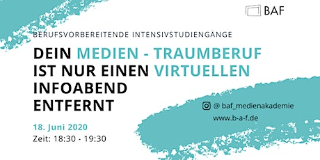 Medienberufe: Virtueller Infoabend Tickets