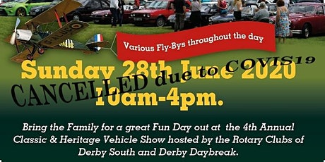 Apologies:CANCELLED 28-06-20 - Carsington  Classic  & Heritage Vehicle Show tickets