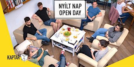 KAPTÁR Open Day / Nyílt nap tickets