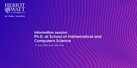 Information Session:  Ph.D. at  the School of Mathematical & Computer Scien tickets
