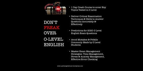 O-Level English Exam Crash Course tickets
