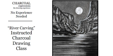 Virtual Charcoal Drawing Event - River Carving tickets