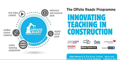 Offsite Ready Wales Webinars - Knowledge for Change tickets