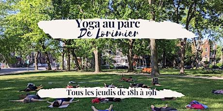 Yoga au Parc De Lorimier — Tous les jeudis billets