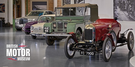 August Timed Museum Entry - British Motor Museum tickets