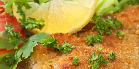 Online College Survival Cooking Class - Schnitzel & Garlicky Greens tickets