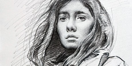 Charcoal Portrait Drawing with a Pro Artist (Online) tickets