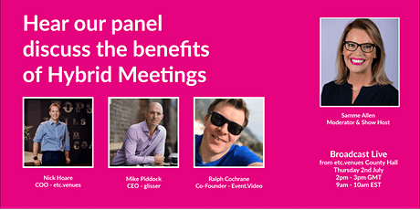 Why compromise with a virtual meeting when you can maximise with hybrid? tickets