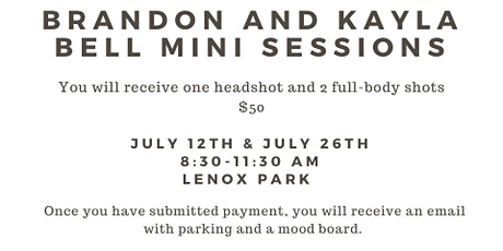 Brandon and Kayla's Mini Session Shoot : JULY 12th tickets