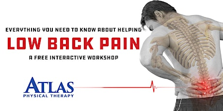 Take Control of Your Low Back Pain - Free Interactive Workshop tickets
