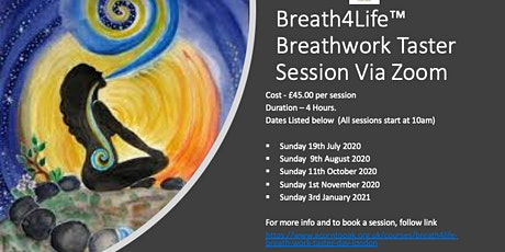 Breath4Life™ Breath Work Taster Session - Virtual Via Zoom Tickets