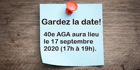 40e AGA tickets