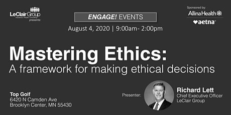 Ethics CE: Mastering Ethics - A Framework for Making Ethical Decisions tickets