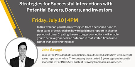 LIVE: Strategies for Successful Interactions tickets